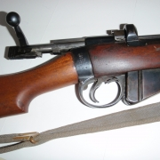 With bolt open, shows that this was made by BSA (British Small Arms factory)